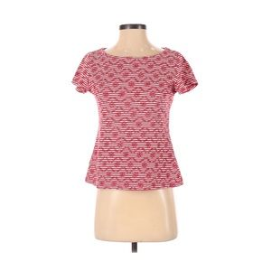 Postmark Anthropologie Embroidered Red Top - Small